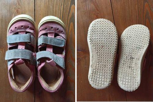 Prodám bf / bare / barefoot sandále / sandálky Filii Klett M, vel. 25