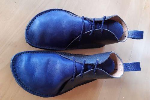Ručně šité barefoot mokasíny